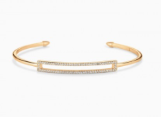 Pave Rectangle Cuff - Gold