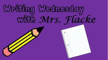 Writing Wednesday on ZOOM!