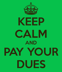 Spring 2021 Dues Payment: Monday, March 1, 2021