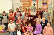 The Colonel Visits A.B. Chandler Students