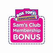 PTA Box Tops Opportunity with Sam's Club