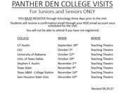 Panther Den College Visits