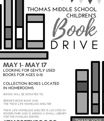 Thomas Middle School Be the Good Book Drive
