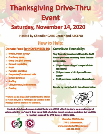 Thanksgiving Family Assistance Day, Saturday, November 14th
