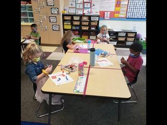 Kinders Working Hard!