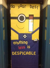 Door Decorations to Ease Test Anxiety