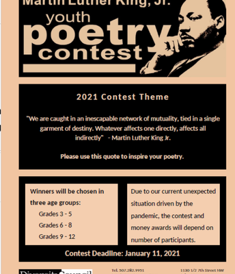 Diversity Council MLK Jr. Youth Poetry Contest