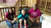 Kids get better through riding.  So do parents.  Kaden and Texarkana College Volunteers.
