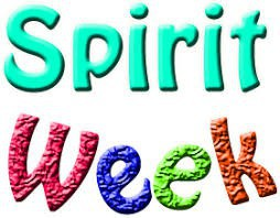 """Picture of colorful letters that spell out, """"Sprit Week""""."""