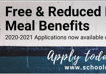 Sign up for Free/Reduced Meal Benefits