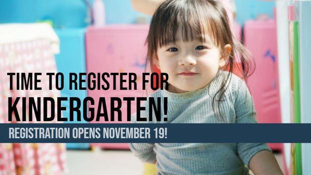 Kindergarten Registration starts Nov 19
