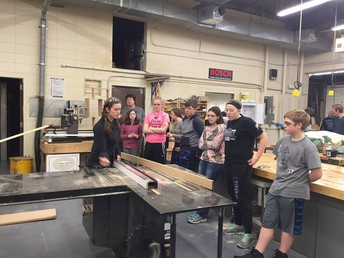 GT 8th Graders Learning About the Saw