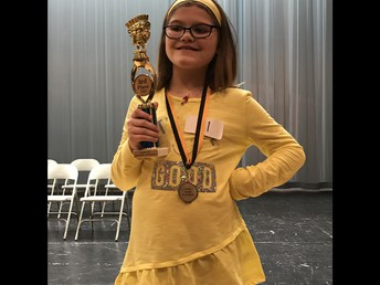Leila takes 3rd at KUSD Spelling Bee!