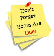 All Textbooks and Library Books are Due by Friday, May 18th