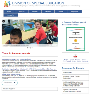 Division of Special Education New Website