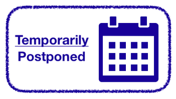 Upcoming Events Postponed