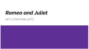 Romeo & Juliet Slide Presentation