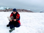 Ms Bowman read in ANTARCTICA!