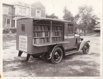 This is what a Long Ago Book Mobile looked like.