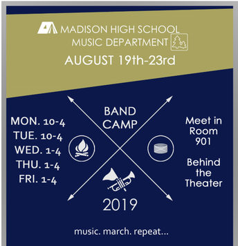 Band Camp, August 19-23, 2019