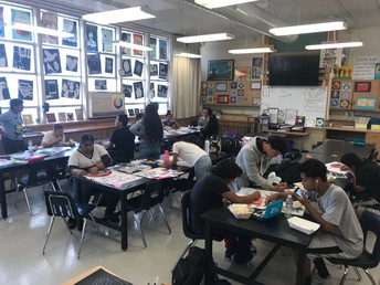 Lunch Art Crew with Mrs. Mcbrayer