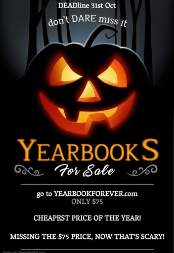 Don't Miss the Cheapest YEARBOOK Price, Only $75 through 10/31!