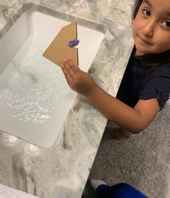 PreK Soap boat at home