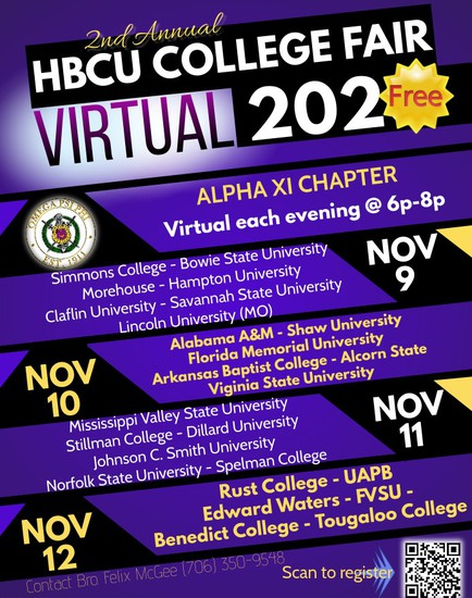 four (4) night event will highlight top Historically Black Colleges & Universities such as Morehouse College, Spelman College, and Dillard University just to name a few.  We offer this event for FREE...
