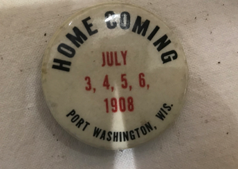 1908 Homecoming button