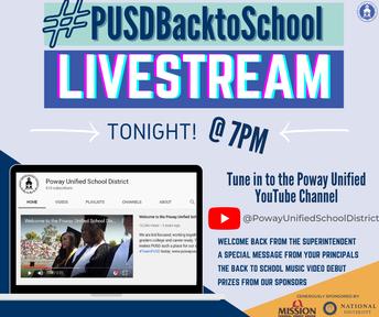 #PUSDBacktoSchool Livestream Event