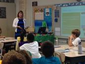 Mrs. Pollard explains the description of a Food Writer.