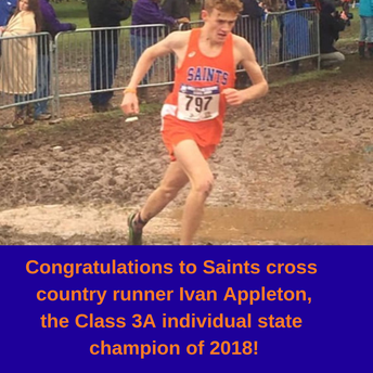 Saints Sophomore Ivan Appleton Runs Away with 3A State Title
