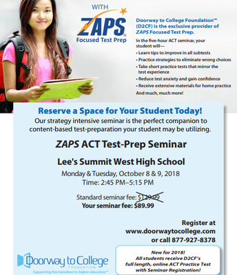 Unlock Your Potential w/ZAPS Focused Test Prep