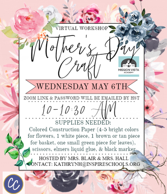 VIRTUAL Community Connections Mother's Day Craft!