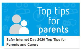 Safer Internet Day Top Tips and Advice Pages