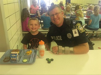 Gavyn Hazen and Officer Johnson