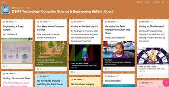 Use Padlet to post weekly projects