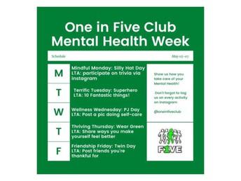 One in Five Mental Health Week