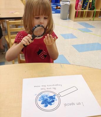 Katherine investigates her fingerprints?