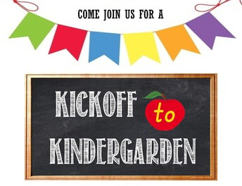 Kindergarten Kick-off:  September 3rd