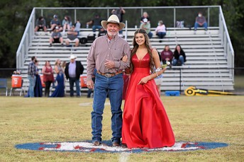 Kailey with her dad, Giles
