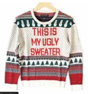 Thursday/Jueves:  Ugly Sweater/ Suéter de feo