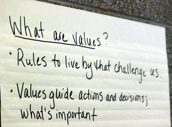 Six core values, seven goals
