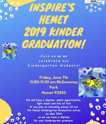 Inspire's Hemet 2019 Kinder Graduation!