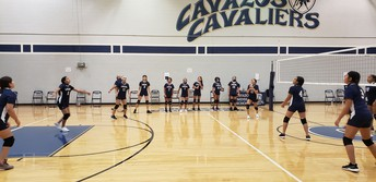 Lady Cavs Prepare for their game