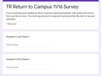 TR Return to Campus Survey