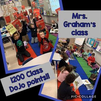Mrs. Graham's class hit their behavior goal!