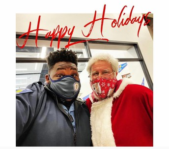 Our SSO and Santa are BFF's