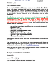 Letter to community partners for WinterFest
