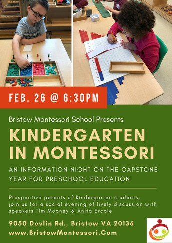 Kindergarten in Montessori - An Evening event - Feb 26th